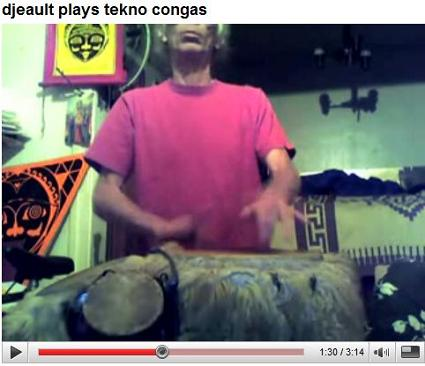 djeault plays techno congas